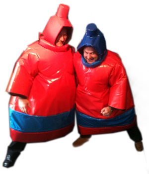 red sumo suits